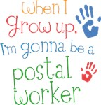 Future Postal Worker Kids T-shirts