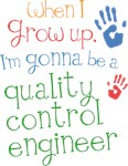 Future Quality Control Engineer Kids T-s