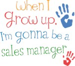 Future Sales Manager Kids T-shirts