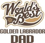 Golden Labrador Dad (Worlds Best) T-shirts