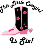 6th Birthday Cowgirl Tee Shirts