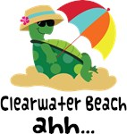 Clearwater Beach Florida Turtle Tshirts