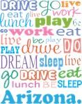 Copy of EAT SLEEP LIVE DREAM Arizona T-SHIRTS