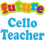 Future Cello Teacher Kids Music T-shirts