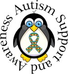Autism Penguin Shirts and Support Gear