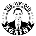 Obama Yes We Did Again BW