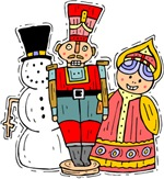 Snowman, Angel, & Nutcracker