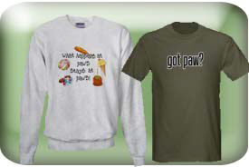 Paw Gifts and T-Shirts