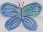 Denim Blue Butterfly