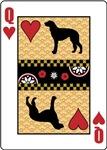 Scottish Deerhound Queen of Hearts