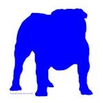 Blue Bulldog Silhouette