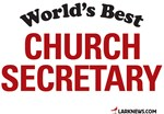 World's Best Church Secretary