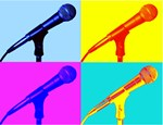 Pop Art Microphone Illustration T-shirts & Gifts