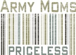 Army Moms Priceless Barcode T-shirts & Gifts
