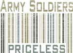 Army Soldiers Priceless Barcode T-shirts & Gifts