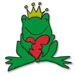 Frog Prince Crown Heart Cartoon T-shirt & Gifts