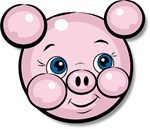 Pink Pig Cute Face Cartoon T-shirts & Gifts