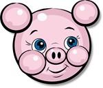 Pink Pig Cute Face Cartoon T-shirts & Gifts