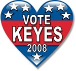 Vote Alan Keyes 2008 Political T-shirts & Gifts