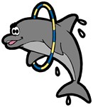 Dolphin Hoop Porpoise Cartoon T-shirts & Gifts