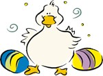 Easter Duck with Eggs T-shirts & Gifts
