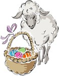 Easter Lamb with Basket T-shirts & Gifts