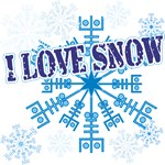 I Love Snow t-shirts gifts