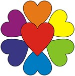 Valentine Rainbow Hearts t-shirts gifts