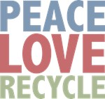 Peace Love Recycle Earth Day T-shirts Gifts