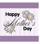 Happy Mother's Day Purple Flowers T-shirts Gifts
