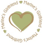 Marine's Girlfriend Heart Design T-shirts Gifts