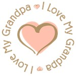 I Love My Grandpa Pink Heart T-shirts Gifts