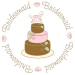 Sweet Bridesmaid Wedding Cake T-shirts Gifts