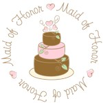 Sweet Maid of Honor Wedding Cake T-shirts Gifts
