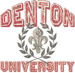Denton Family Name University T-shirts Gifts