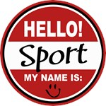 Hello My Name is Sport Tag T-shirts Gifts