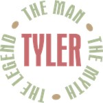 Tyler the man the myth the legend T-shirts Gifts