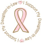 Breast Cancer Daughter-In-Law T-shirts Gifts