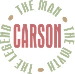 Carson the man the myth the legend T-shirts Gifts