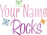 Girl's Personalized Your Name Rocks Tees Gifts