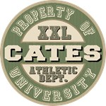 Property of Cates Athletic Dept Tees Gifts