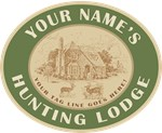 Your Name Personalized Hunting Lodge Tees Gifts