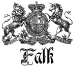Falk Vintage Family Name Crest Tees Gifts