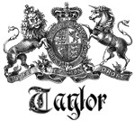 Taylor Vintage Family Name Crest Tees Gifts