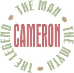 Cameron Man Myth Legend Tees Gifts