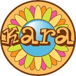Kara Personalized Bright Flower Tees Gifts