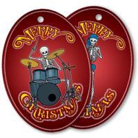 Skeleton Musician Christmas Ornaments