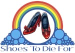 Ruby Red Slippers and Over the Rainbow from the Wonderful Wizard of Oz with the quote: Shoes To Die For