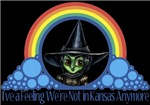 With all the colors of the rainbow, this Wonderful Wizard of Oz inspired design capturesWicked Witch of the West I've a feeling we're not in Kansas anymore.  The perfect gift for any Oz fan.