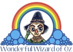 With all the colors of the rainbow, this Wonderful Wizard of Oz inspired design captures Scarecrow Wonderful Wizard of Oz.  The perfect gift for any Oz fan.
